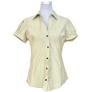 Express Design Studio Striped Button-up Blouse
